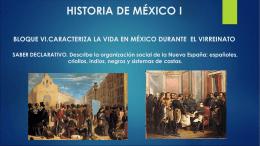 6.3 Describe la organización social de la nueva