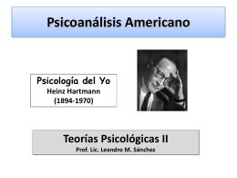 Psicoanálisis Americano