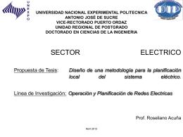 SECTOR ELECTRICO Propuesta de Tesis: Diseño de una
