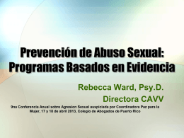 Prevención de Abuso Sexual: Programas Basados en