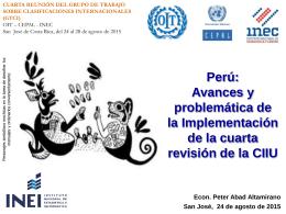 Implementacion de la CIIU Revisión 4
