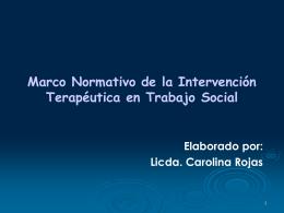 Informe final: Marco Normativo de la Intervención