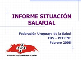 Informe de situación salarial Diciembre 2007
