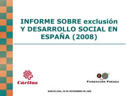 INFORME SOBRE EXCLUSIÓN Y DESARROLLO SOCIAL EN