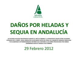 INFORME DAÑOS POR HELADAS Y SEQUIAS EN ANDALUCÍA