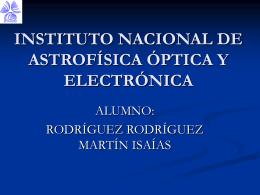 INSTITUTO NACIONAL DE ASTROFÍSICA ÓPTICA Y