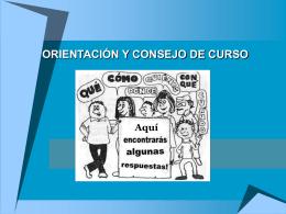 ORIENTACIÓN Y CONSEJO DE CURSO
