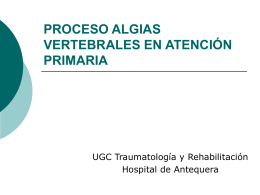 PROCESO ALGIAS VERTEBRALES EN ATENCIÓN PRIMARIA