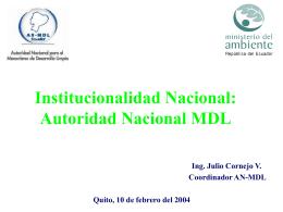 COMITÉ NACIONAL CLIMA MINISTERIO DEL AMBIENTE