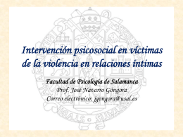 Intervención psicosocial en victimas de la