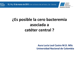 Bacteremia cero: una intervención multifactorial