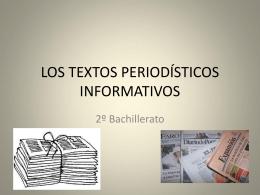 LOS TEXTOS PERIODÍSTICOS INFORMATIVOS