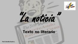 Texto no literario - Colegio Monte de Asís