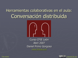Herramientas colaborativas: Conversación