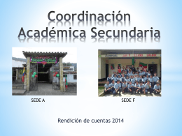Coordinación Académica Secundaria