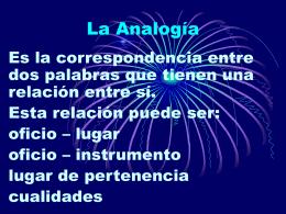 La Analogía