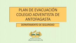 PLAN DE EVACUACIÓN COLEGIO ADVENTISTA DE