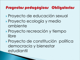 Proyectos pedagógicos Obligatorios