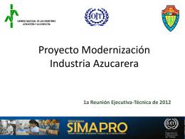 Proyecto Modernización Industria Azucarera
