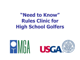 The Rules of Golf in Brief