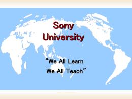 Sony University