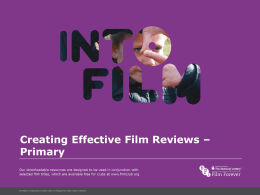 Creating Effective Film Reviews