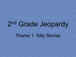 2nd Grade Jeopardy