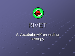 "Rivet"" A vocabulary/pre"
