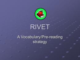 """Rivet"""" A vocabulary/pre"""