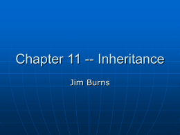Chapter 11 -- Inheritance