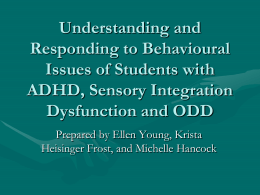 Neurologically-based behaviour: Chapter 3