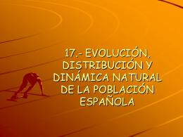 16.- EVOLUCIÓN, DISTRIBUCIÓN Y DINÁMICA NATURAL DE