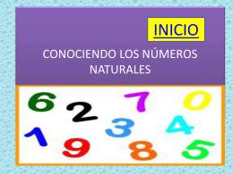 CONOCIENDO LOS NÚMEROS NATURALES