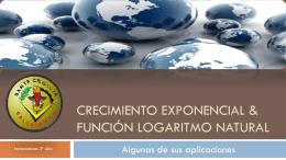 Crecimiento exponencial & función logaritmo