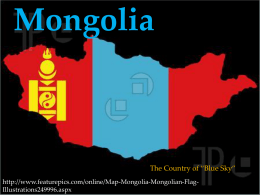 Mongolia - Wikispaces