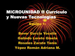 MICROUNIDAD II Currículo y Nuevas Tecnologías