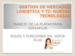 NUEVAS TECNOLOGIAS - Portal SOFIA Plus