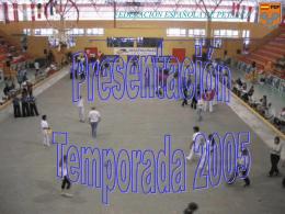 Presentación Temporada 2005