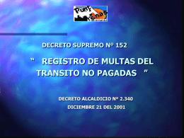 DECRETO SUPREMO Nº 152