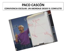 PACO CASCÓN CONVIVENCIA ESCOLAR. UN ABORDAJE DESDE