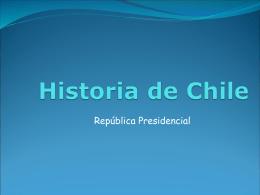 LA REPÚBLICA PRESIDENCIAL 1925