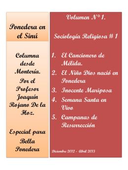 Ponedera en el Sinú - JOAQUIN ROJANO DE LA HOZ