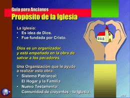 Guia para Ancianos Propósito de la Iglesia