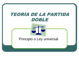 TEORÍA DE LA PARTIDA DOBLE