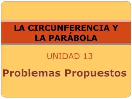 LA CIRCUNFERENCIA Y LA PARÁBOLA