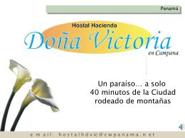 Diapositiva 1 - Hostal Hacienda Doña Victoria