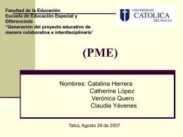 (PME) - Verónica Quero | ….::::Educar es