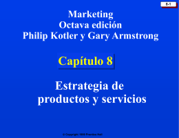 Chapter 8: Products and Services Strategy