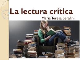 La lectura crítica