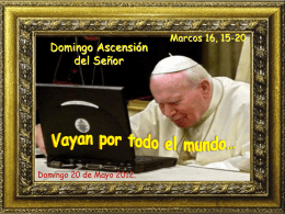 Ascensión de Jesús - CONGREGACIÓN DE LA MISIÓN